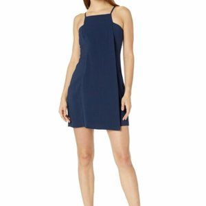 NWT BCBGeneration navy square neck cocktail dress